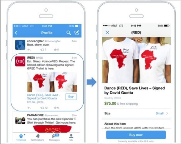 В Twitter появится кнопка «Купить»