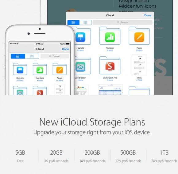 Опубликованы расценки на Apple iCloud