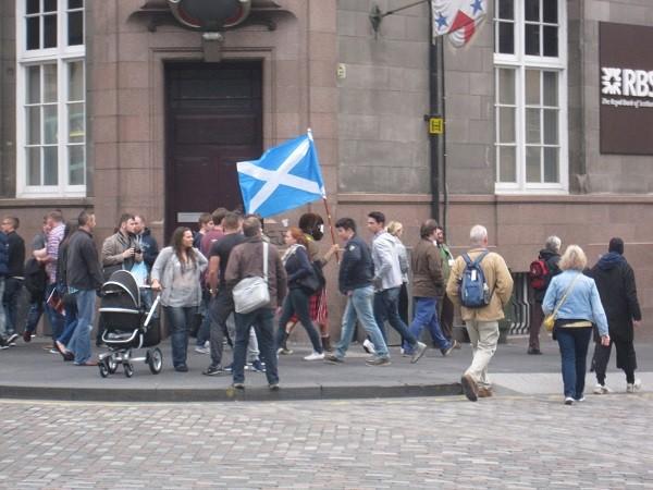 За независимость Шотландии голосуют даже в кафе (фото)