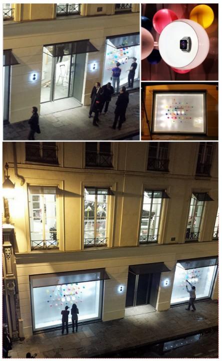 Apple Watch выставили в Париже