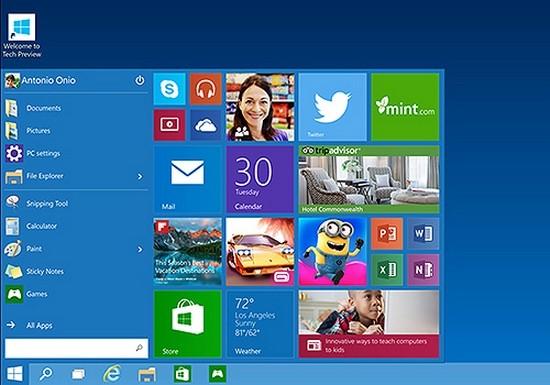 Релиз Windows 10 намечен на 2015 год