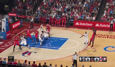 ВИДЕО: NBA 2K15: Геймплей Warriors vs Wizards