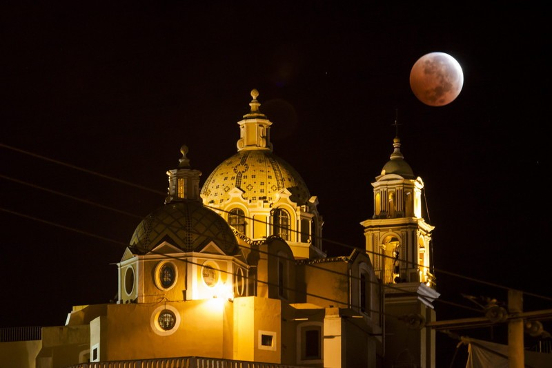 Сегодня было второе полное лунное затмение в 2014 г (ФОТО)