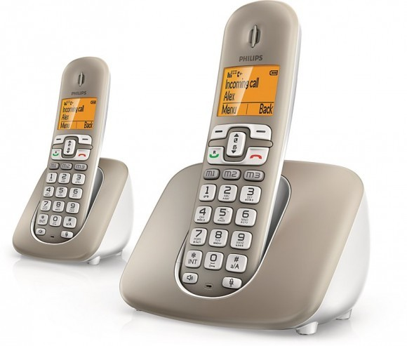Изогнутый беспроводной телефон Philips XL3902S