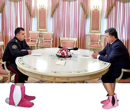 Фотожабы на гламурный кабинет Порошенко (ФОТО)