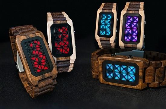 Tokyoflash Kisai Adjust: Наручные часы в деревянном каркасе
