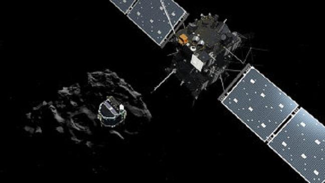 """В первый раз бот """"Фила"""" через 10 лет сел на ядро кометы. ВИДЕО"""
