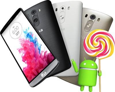 Первым телефоном с Андроид 5.0 Lollipop будет «ЭлДжи» G3