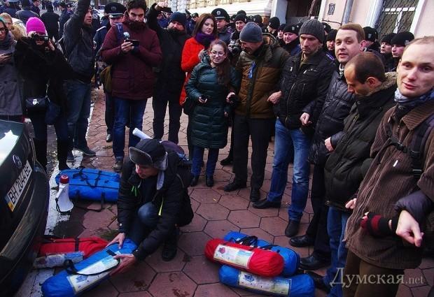 Столкновения милиции с активистами в Одессе (ФОТО)