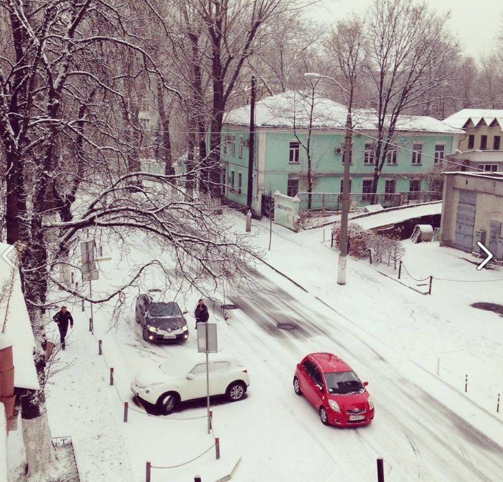 В Киеве выпал первый снег (ФОТО)