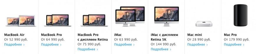 Цены на продукцию Apple в РФ резко выросли