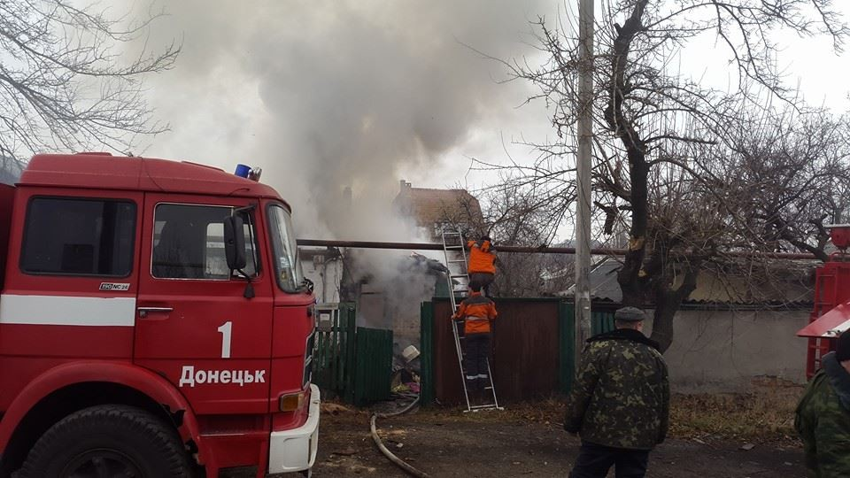ФОТО: Обстрел частного сектора в Донецке: были убиты 2 граждан