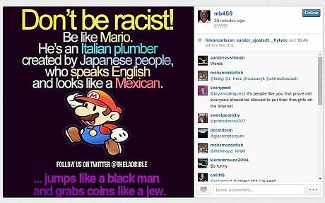 Балотелли винят в антисемизме и расизме