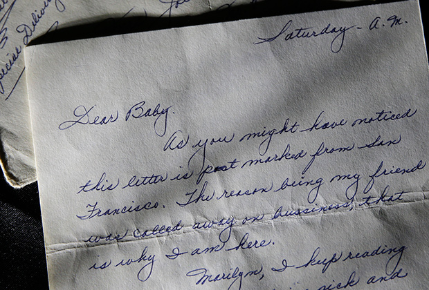 Любовные письма Мэрлин Монро проданы на аукционе