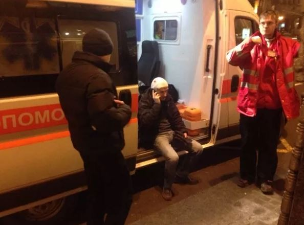 Футбольные фанаты подрались в центре Киева (ФОТО)
