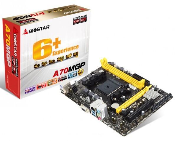 Плата Biostar A70MGP на чипсете AMD A70M представлена