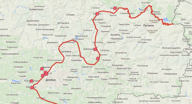 Ухудшение ситуации в районе Донецка
