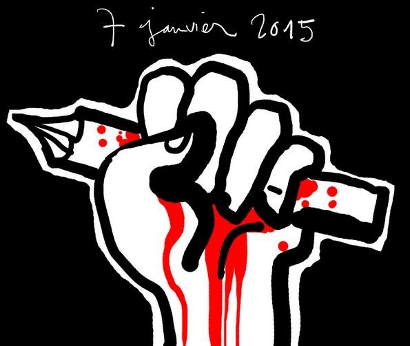 ФОТО: Ответ карикатуристов мира на теракт в Charlie Hebdo