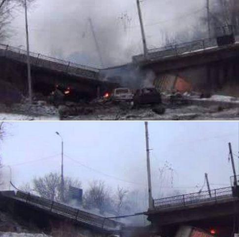 В Донецке взорвали Путиловский мост (ФОТО, ВИДЕО)