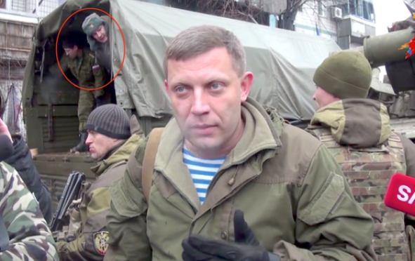 ФОТОФАКТ: Глава ДНР Захарченко в компании российских солдат