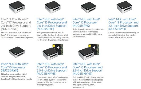 Intel NUC с 2-ядерным Core i7-5557U (Broadwell)