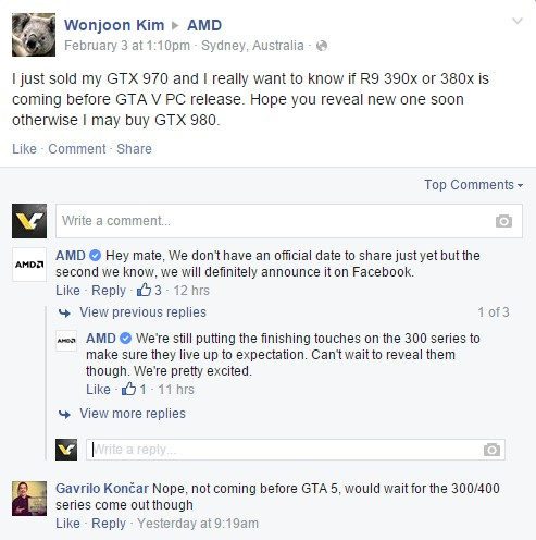AMD заканчивает работу над Radeon 300 Series