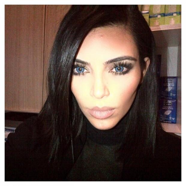 Ким Кардашьян и Канье Уэст сменили цвет глаз