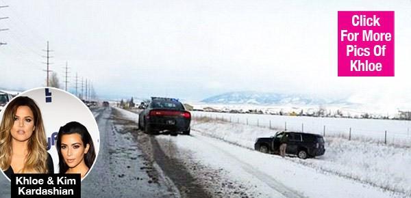 Ким Кардашьян вместе с семьей попала в аварию