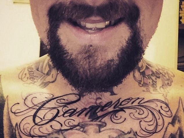Муж Кэмерон Диаз сделал в честь нее татуировку