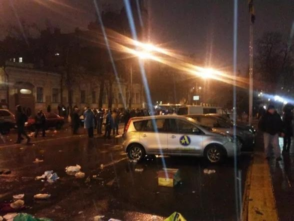 Аваков расследует разгон милицией митинга под НБУ (ВИДЕО)