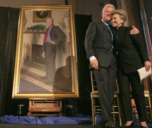 На портрете Билла Клинтона есть намёк на Монику Левински