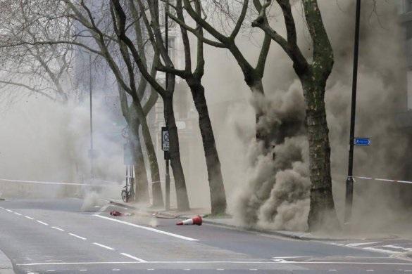 В центре Лондона 2 тыс чел эвакуированы из-за пожара (ВИДЕО)