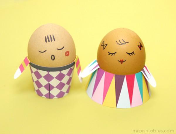 Поделки на Пасху для детей: Человечки из яиц (ФОТО)