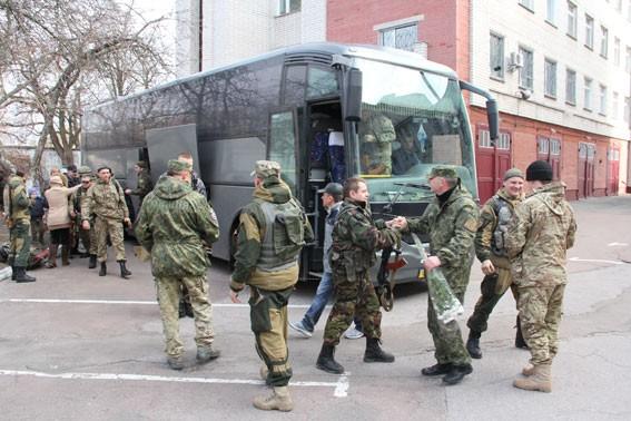 ФОТО: Батальон «Чернигов» вернулся из зоны АТО