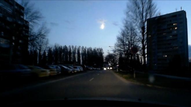 Падение метеорита осветило небо над Словакией (ВИДЕО)