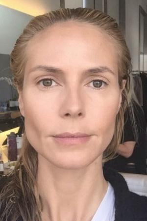 Хайди Клум до и после макияжа
