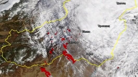 ФОТО: Пожары в Забайкалье перекинулись на Монголию