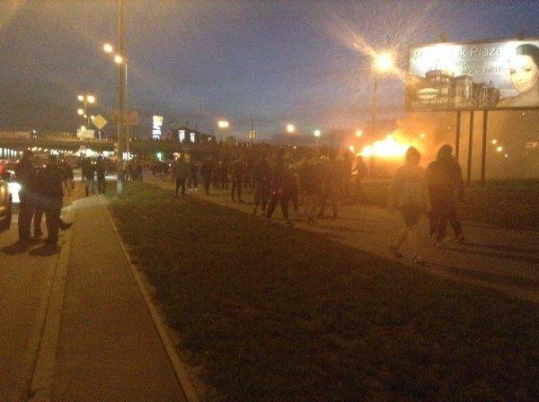 В Киеве на месте застройки произошли столкновения (ФОТО)