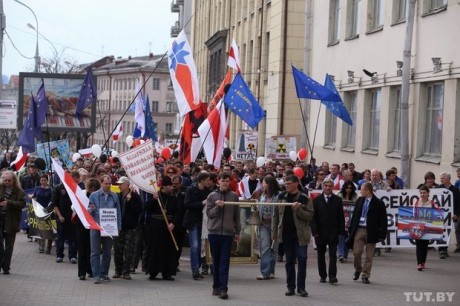 ФОТО: Митинг в Минске: «Ядерная Россия страшнее Чернобыля»