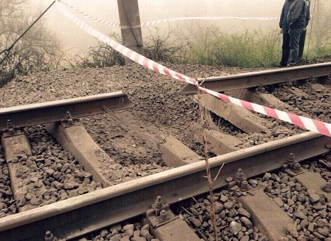 Взрыв на железной дороге под Одессой
