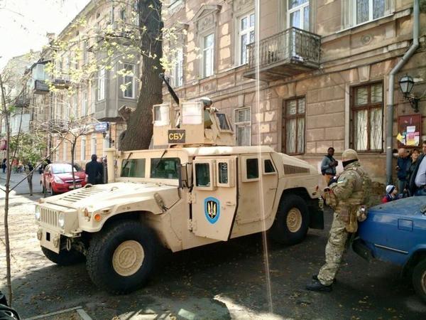 ФОТО: Диверсантов в Одессе задерживали на американском Хамви