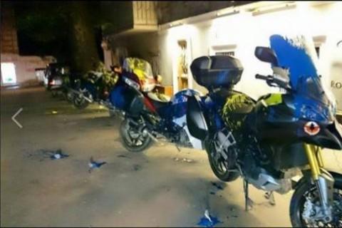 В Грузии мотоциклы россиян облили краской (ФОТО)