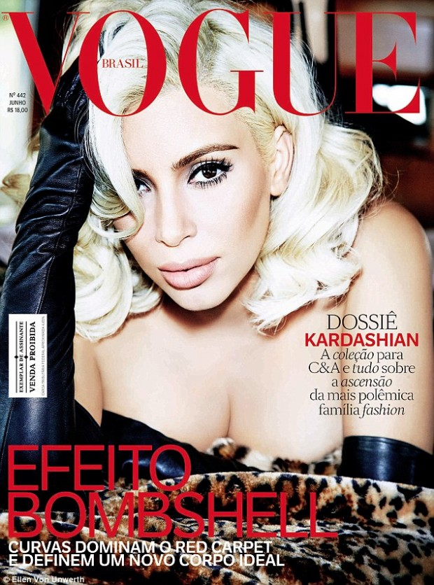 Ким Кардашьян в образе Мэрилин Монро