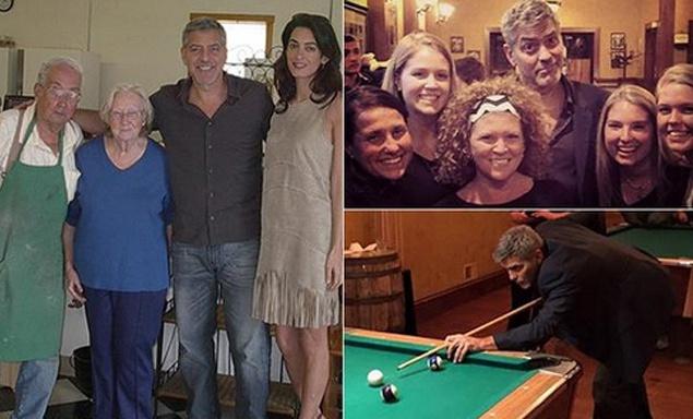 Клуни с супругой Амаль посетили родной город актера