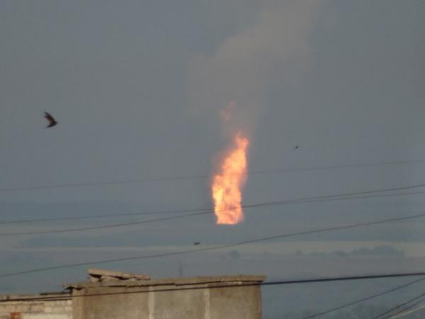 Под Авдеевкой боевики попали в газопровод. Фото