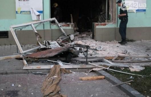 """ФОТО: В Сумах ночью взорвали офис """"Свободы"""""""