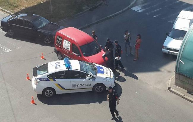 ФОТО: Авто полицейского патруля в Киеве попал в ДТП