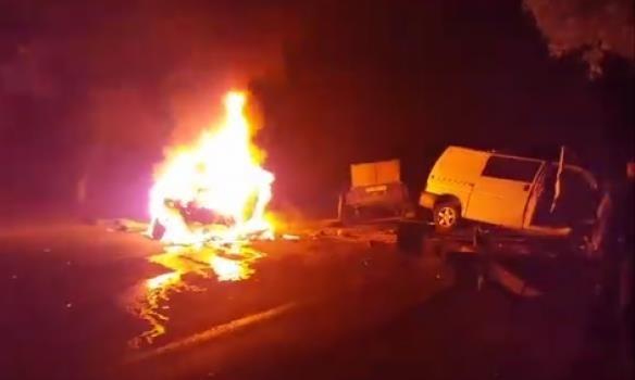 Фото: Взрыв такси под Одессой: трое погибших