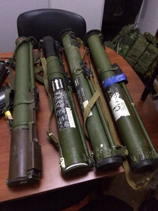 Фото: В центре Киеве обнаружен арсенал оружия