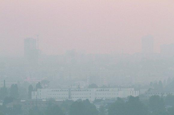 Вчера Киев задыхался от дыма из-за торфяников (фото, видео)
